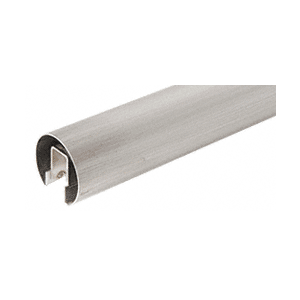 "CRL GR16BS14 Brushed Stainless 1.66"" Premium Cap Rail for 1/2"" Glass - 168"""