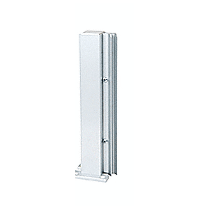 "Brite Anodized 12"" 135 Degree LH Center Design Series Partition Post"