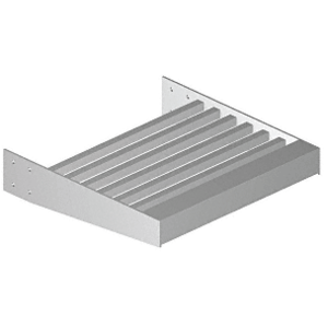 """Clear Anodized 1"""" x 1"""" Square Tube Blade - 146"""" Length"""