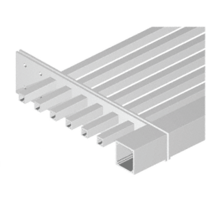"CRL AWFST3A Clear Anodized 3"" x 3"" Square Tube Fascia - 146"""
