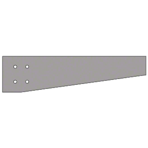 Clear Anodized Tapered Square Outrigger - Custom Length