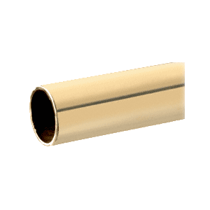 "Polished Brass 1"" Diameter Round .050"" Tubing - 98"""