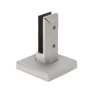 Brushed Stainless Steel Finish Surface Mount Friction Fit Square Spigot