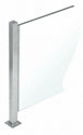 """CRL PP47TBS Brushed Stainless 18"""" High 1"""" Square PP47 Mini Plaza Series Partition 3-Way Post with U-Channel"""