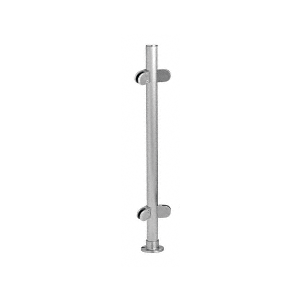 """Brushed Stainless 18"""" x 1"""" PP49 Slimline Series Round Partition 135 Degree Post"""