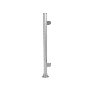 """Brushed Stainless 18"""" x 1"""" PP49 Slimline Series Round Partition End Post"""