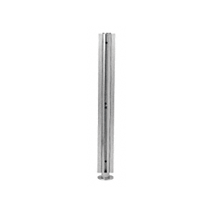 """Brushed Stainless 18"""" x 1"""" SBPP08 Slimline Series Round 4-Way Partition Post"""
