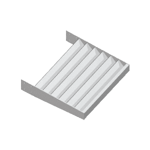 "CRL AXF212X14A Clear Anodized 2-1/2"" x 1/4"" Flat Bar Blade Extrusion - 146"" Length"