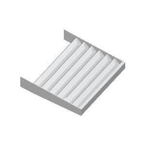 "CRL AXF214X14A Clear Anodized 2-1/4"" x 1/4"" Flat Bar Blade Extrusion - 146"" Length"