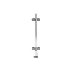 """Polished Stainless 18"""" High 1"""" Square PP48 Mini Plaza Series Partition 4-Way Post with Mini Z-Clamps"""
