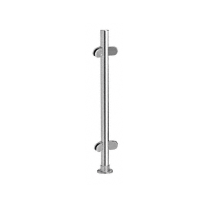 """Polished Stainless 18"""" x 1"""" PP49 Slimline Series Round Partition 135 Degree Post"""