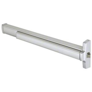 "36"" Model 2095 Grade 1 Rim Latch Panic Exit Device Right Hand Reverse Bevel 'S' Strike Fits 32"" to 36"" Wide Door Satin Aluminum Finish"
