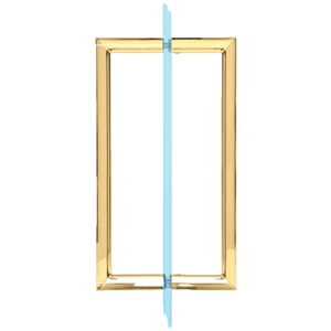 "8"" Polished Brass RM Series Flat Outside Surface/Round Tubing Inside Back-to-Back Pull Handle"