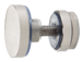 CRL SERFP2BS Brushed Stainless Track Holder Fittings for Fixed Panel - pack of 2
