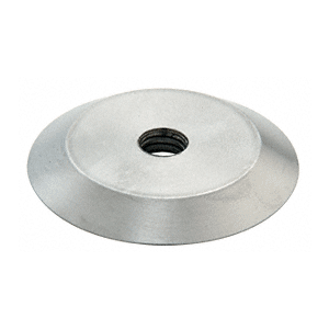 """Brushed Stainless Steel 1-1/4"""" Diameter Trim Plate for Standoff Bases"""