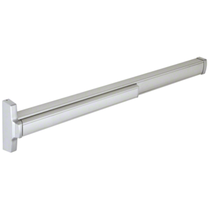 "48"" Aluminum Finish Model 2085 Concealed Vertical Rod Panic Exit Device Dual Point Latching with Top Latch and Bottom Hex Bolt Left Hand Reverse Bevel"