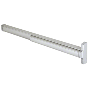 """Model 2085R Retrofit Less Rod and Case Concealed Vertical Rod Panic Exit Device Right Hand Reverse Bevel Fits 32"""" to 48"""" Wide Door Satin Aluminum Finish"""