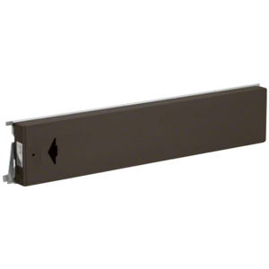 Model 3185 Mid-Panel Concealed Vertical Rod Exit Device With Top Latch Arrow Engraved on Push Pad Left Hand Reverse Bevel Dark Bronze Finish