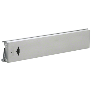Model 3186 Mid-Panel Concealed Vertical Rod Exit Device Arrow Engraved On Push Pad Hex Bolts At Both Latch Points Left Hand Reverse Bevel Satin Aluminum Finish