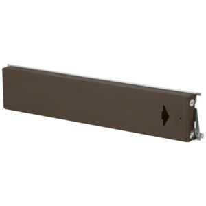 Model 3186 Mid-Panel Concealed Vertical Rod Exit Device Dark Bronze Finish Right-Hand Reverse Bevel