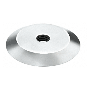 """Polished 316 Stainless Steel 1-1/4"""" Diameter Trim Plate for Standoff Bases"""