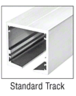 """SPS S434S1PS Polished Stainless Type 1 Standard with 4"""" Square Rails Top and Bottom"""