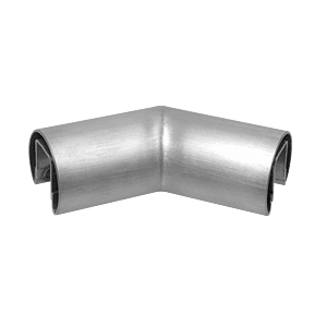 "316 Brushed Stainless 3"" Diameter 135 Degree Horizontal Corner for 3/4"" Glass Cap Railing"