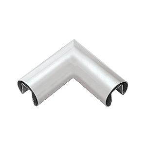 """CRL GR25HM Mill 2-1/2"""" Diameter 90 Degree Horizontal Corner for 1/2"""" or 5/8"""" Glass Cap Railing"""