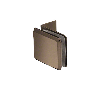 Brushed Bronze Fixed Panel Beveled Clamp With Small Leg