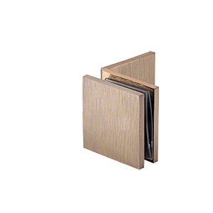 Brushed Bronze Fixed Panel Square Clamp With Large Leg