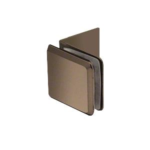 Brushed Bronze Fixed Panel Beveled Clamp With Large Leg