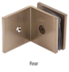 CRL SGC039BBRZ Brushed Bronze Fixed Panel Square Clamp With Large Leg