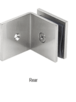 CRL SGC039BSC Brushed Satin Chrome Fixed Panel Square Clamp With Large Leg