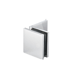 Polished Chrome Fixed Panel Square Clamp With Large Leg