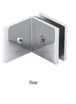 CRL SGC039CH Polished Chrome Fixed Panel Square Clamp With Large Leg