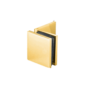 Gold Plated Fixed Panel Square Clamp With Large Leg