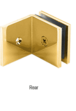 CRL SGC039GP Gold Plated Fixed Panel Square Clamp With Large Leg