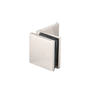 Polished Nickel Fixed Panel Square Clamp With Large Leg