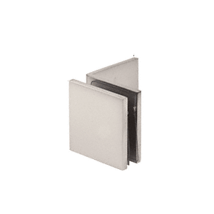 Satin Nickel Fixed Panel Square Clamp With Large Leg
