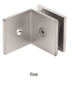 CRL SGC039SN Satin Nickel Fixed Panel Square Clamp With Large Leg