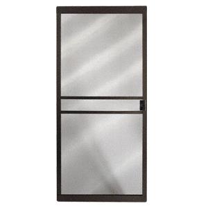 """CRL 1021091404 Columbia Bronze 36"""" x 80"""" CM Supreme Sliding Screen Door"""