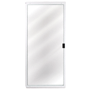 "CRL 1041401504 White Columbia CM Architectural 48"" x 80"" Sliding Screen Door"