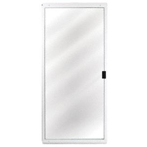 "CRL 1041401504 White Columbia CM Architectural 48"" x 80"" Sliding Screen Door"