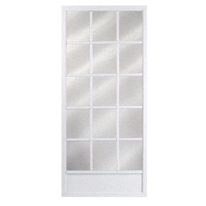 """CM Colonial White 32"""" x 80"""" Steel Hinged Screen Door"""