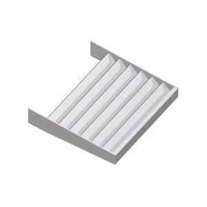 "Clear Anodized 1-1/4"" x 1/8"" Flat Bar Blade Extrusion - Custom Length"