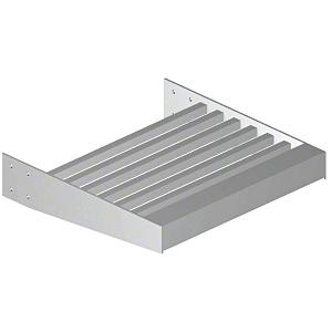 "Clear Anodized 2-3/8"" Square Tube Sunshade Blades - Custom Length"