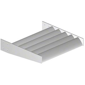 Clear Anodized Airfoil Blade - Custom Length