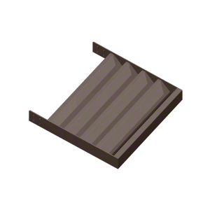 "Dark Bronze 4"" Z-Blade Extrusion - 146"""
