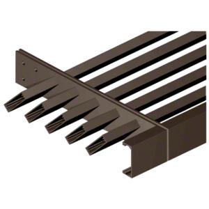 "Dark Bronze 1-1/2"" x 4"" 'C' Channel Fascia - Custom Length"