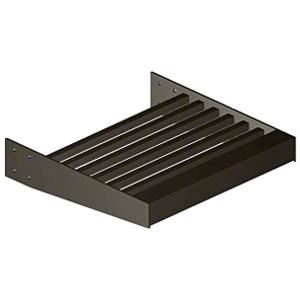 "Dark Bronze 2-3/8"" Square Tube Sunshade Blades - 146"" Length"
